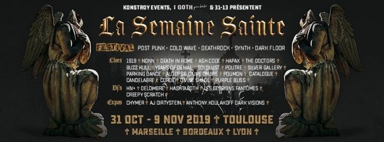 French Post-Punk / Goth festival La Semaine Sainte announces